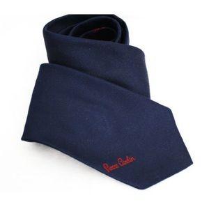 PIERRE CARDIN vintage 1980s navy woven necktie